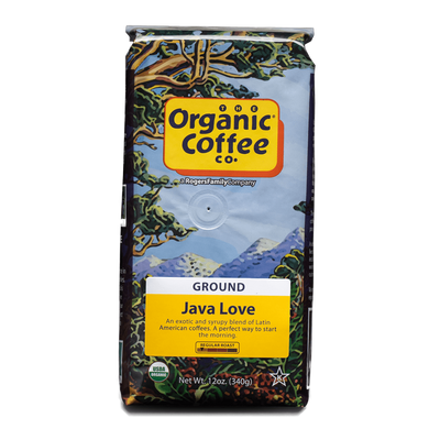 Organic Coffee Co. Java Love, 12 oz Bag (GROUND)