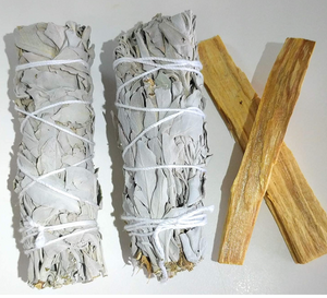 California White Sage & Palo Santo combo pack