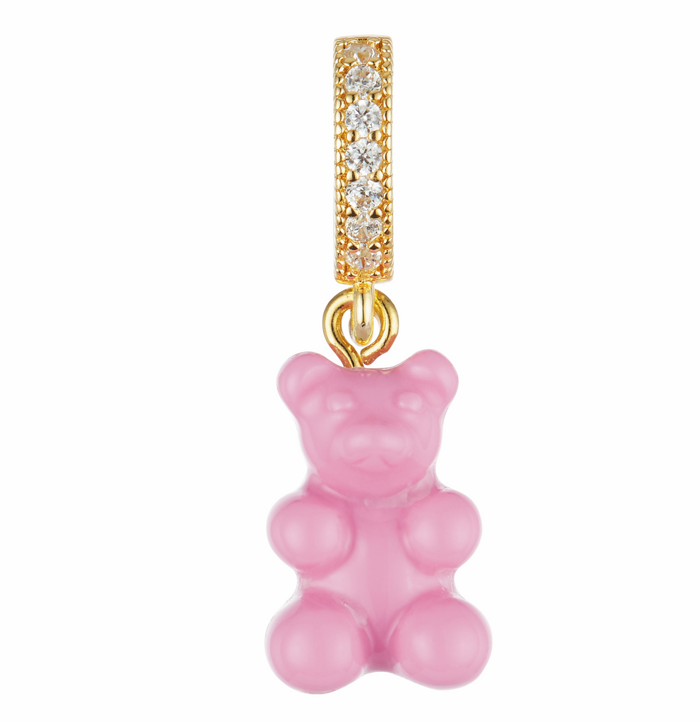 Nostalgia bear - Candy Pink - Pave connector