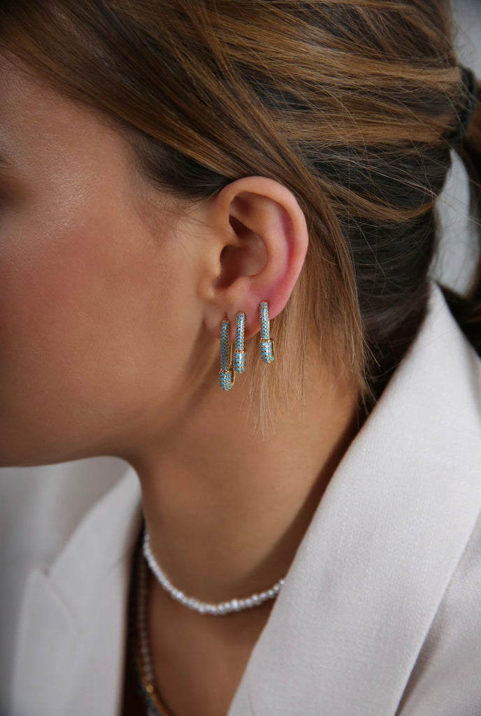 Pin up Earring - Mykonos blue