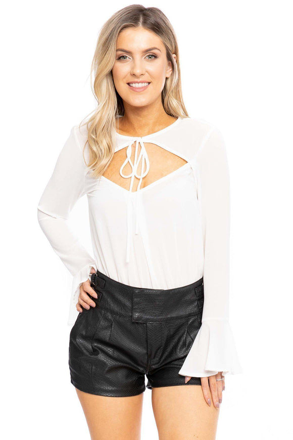 Solid Bodysuit In A Relaxed Fit - Diamond Loves Express Shop
