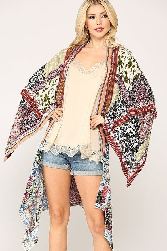 Vintage Printed Kimono - Diamond Loves Express Shop
