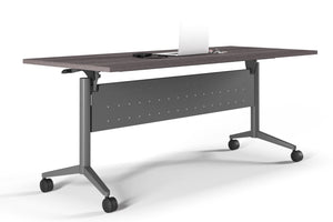 Boost 4' Flip Top Nesting Training Table with Casters Private Spaces