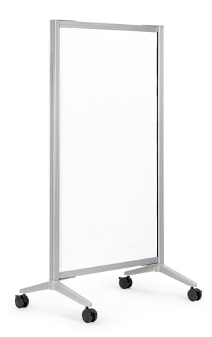Boost Mobile White Board with Locking Casters / 66H x 33W Private Spaces
