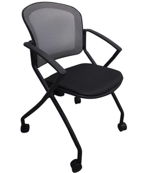 Chita Flip Seat Nesting Chair / 4 pack Private Spaces Black