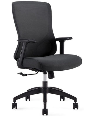 Franca Mid Back Synchro-Tilt Task Chair Office Seating Private Spaces Black