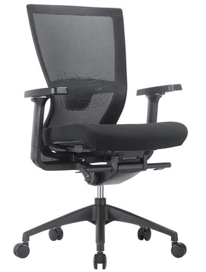 Geneva High Back Multi-function Executive Task Chair Private Spaces Black