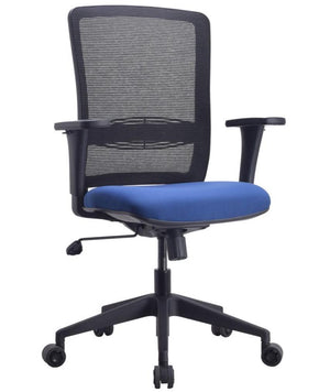 León Task Conference Chair with Lumbar Support Private Spaces Royalblue