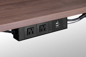 Luxor Under Surface Mount Power Center - Linkable Private Spaces Black