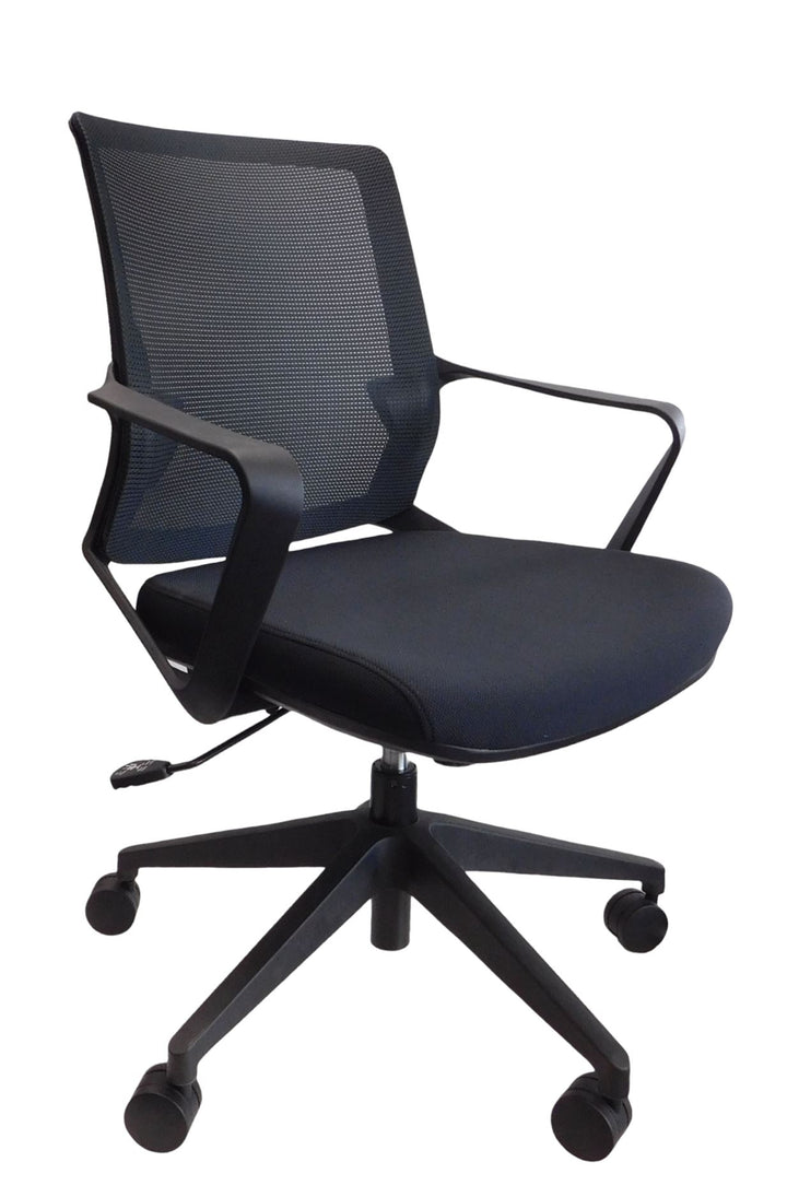 Madrid Medium Back Conference Meeting Room Chair Private Spaces Black