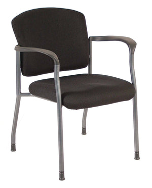 Milan Fully upholstered Seat and Back Guest Chair with Arms Private Spaces Black