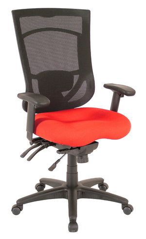 Milan High Back Multi-Function Task Chair Private Spaces Red
