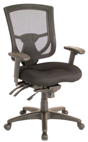 Milan Medium Back Multi-Function Task Chair Private Spaces Black