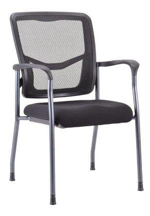 Milan Mesh Back Guest Chair with arms Private Spaces Black