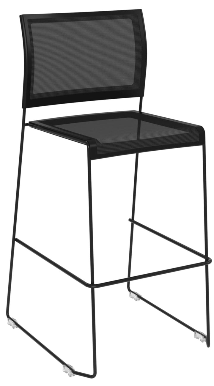 Monaco Stacking Stool Private Spaces Black