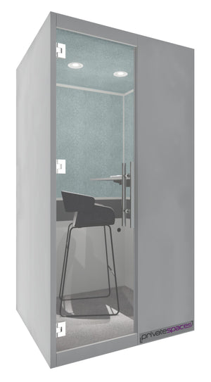 MotionPod 1 / One Person Privacy Booth / Fog Gray Private Spaces