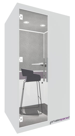 MotionPod 1 / One Person Privacy Booth / White Private Spaces