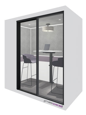 MotionPod 2 / 2 Person Privacy Room With Stools / Brite white Private Spaces