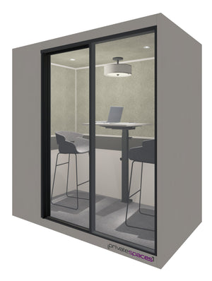 MotionPod 2 / 2 Person Privacy Room With Stools / Sarum Taupe Private Spaces