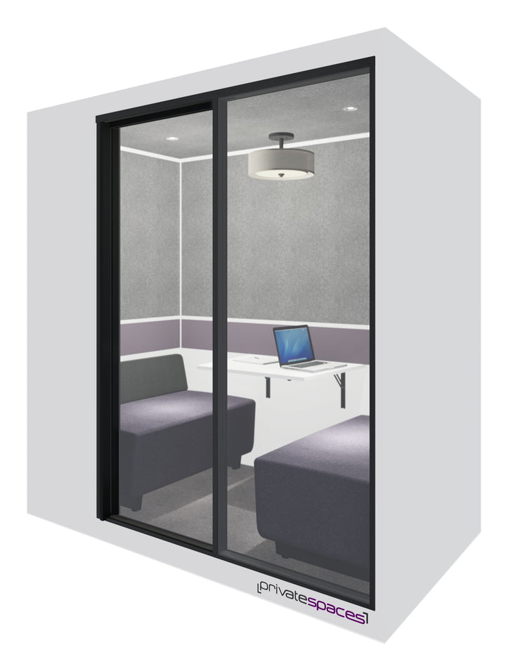 MotionPod 2 / 2 to 4 Person Privacy Booth / Brite White Private Spaces