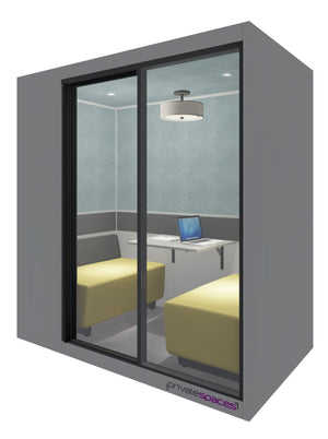 MotionPod 2 / 2 to 4 Person Privacy Booth / Fog Gray Private Spaces