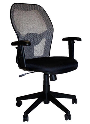 Porto Mid Back Multipurpose Chair / Mesh Back / Fabric seat Private Spaces Black