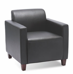 Verona Eco Leather Club Chair Private Spaces Black