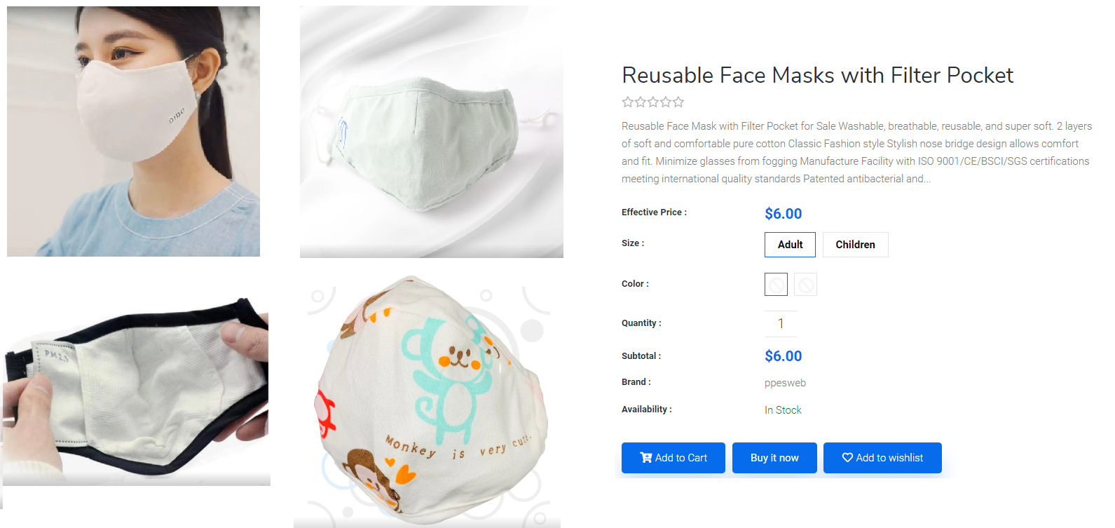 Shop now face cloth mask with filter