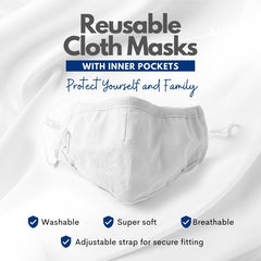 reusable face mask with filter pocket