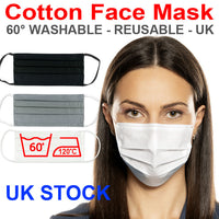 White Cotton Face Mask Shop Wholesale Reusable Washable