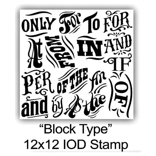 Iron Orchid Designs Decor Stamps - Block Type