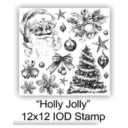 Iron Orchid Designs Decor Stamps - Holly Jolly
