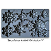 Iron Orchid Designs Decor Mould - Snowflakes