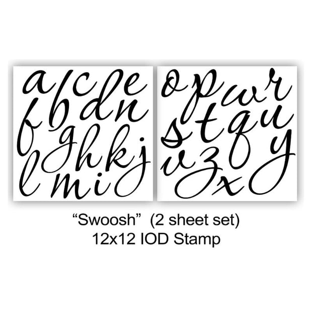 Iron Orchid Designs Decor Stamps - Swoosh