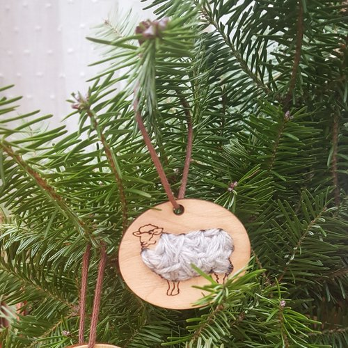 Stitchable Sheep Ornament