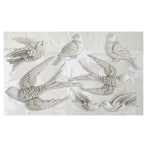Iron Orchid Designs Decor Mould - Birdsong