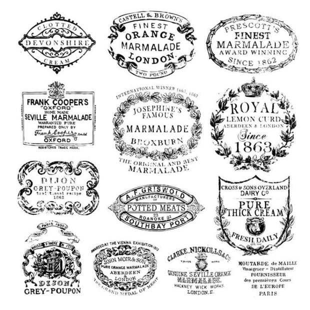 Iron Orchid Designs Decor Stamps - Crockery