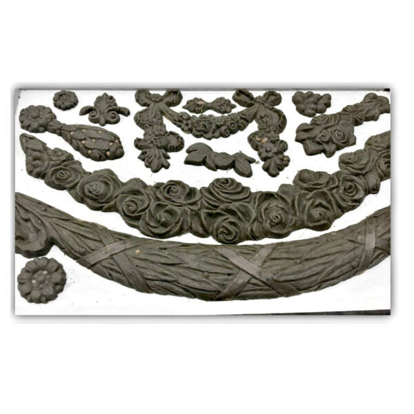 Iron Orchid Designs Decor Mould - Floral Swags