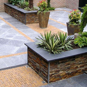 Create Attractive Planter Boxes With Ledger Stone Panels