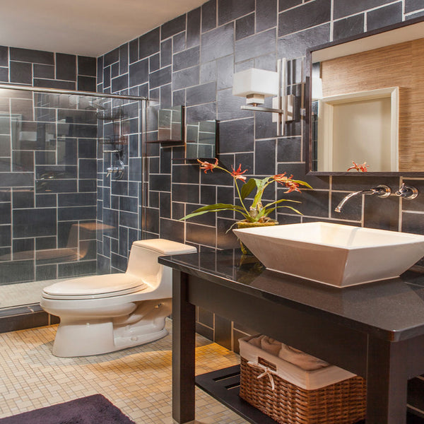 Bathroom Designs Slate Pattern Veneers