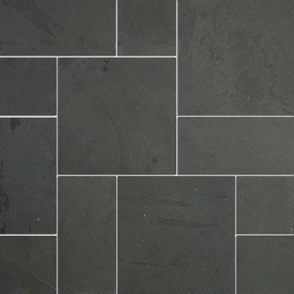 French Pattern Designs Black Slate Tiles