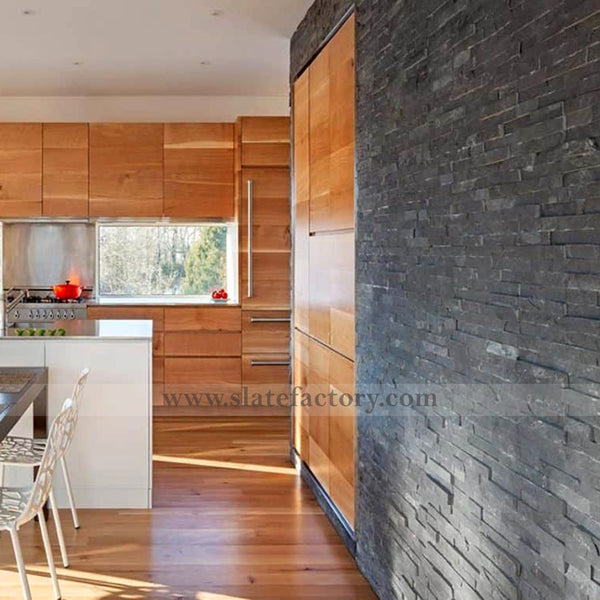 Charcoal Ledger Stone Kitchen Design
