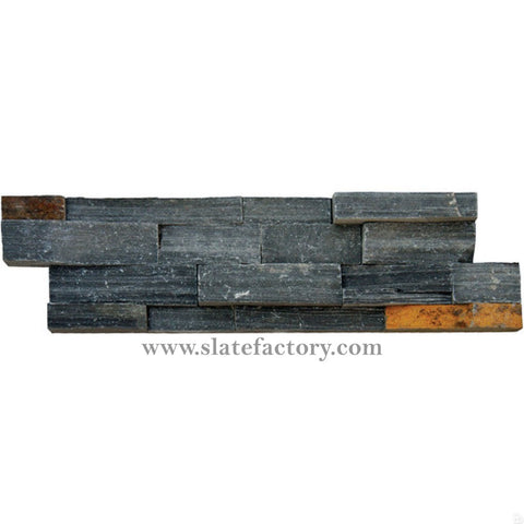 charcoal rust ledger stone panels split face 6x24