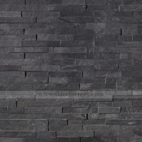 Charcoal Slate Stacked Stone Panels
