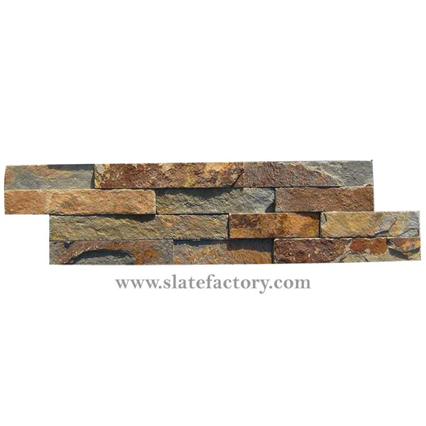 gold rush splitface ledger stone panels