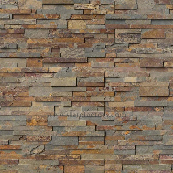 gold rush stacked stone panels