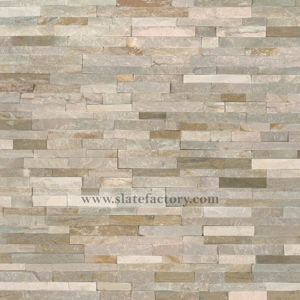golden honey stacked stone panels
