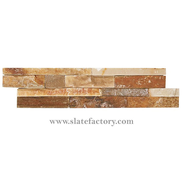 golden white ledger stone panel