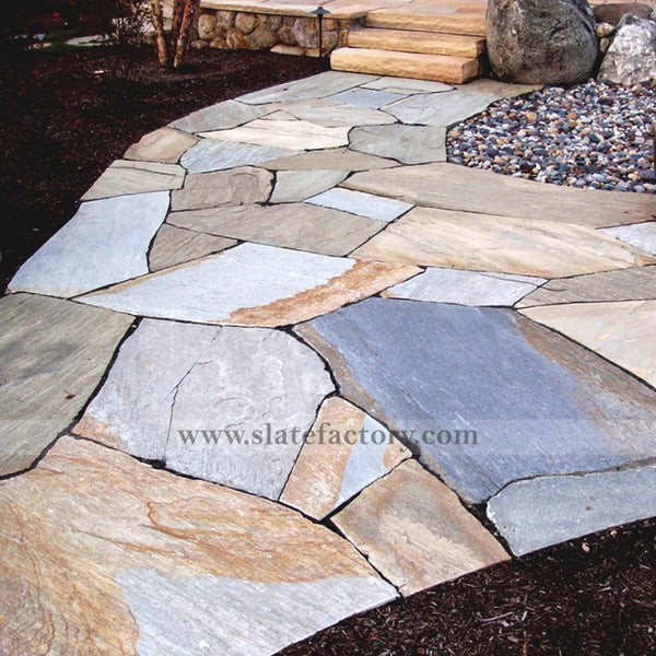 golden-white-quartzite-flagstone-path