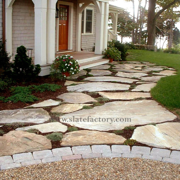 golden-white-quartzite-flagstone-stepping-stone